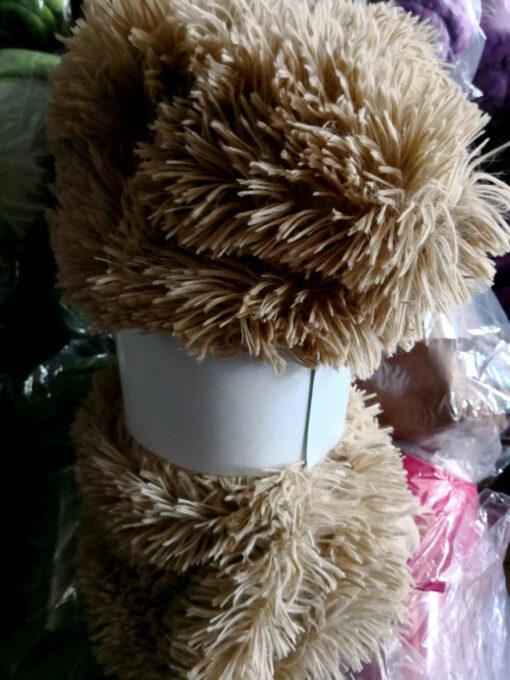 Manta microfibra model Fluff Crema