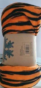 Manta Coralina Cebra Naranja