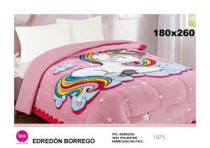 Edredón Sherpa Unicornio