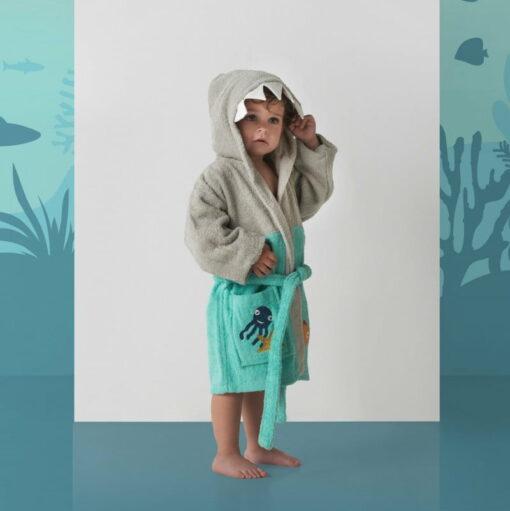 Albornoz Infantil Sharky