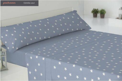 Juego Sábanas Coralina Estrellas Azul