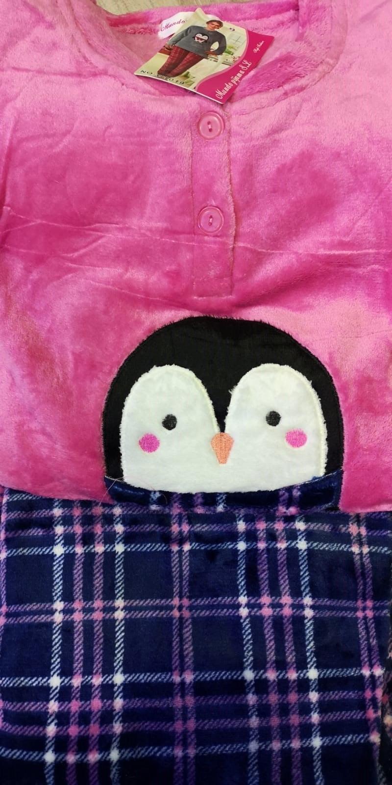 Pijama Sedalina Pingüino Fucsia